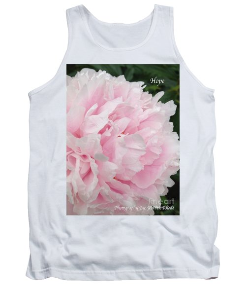 Tank Top featuring the digital art Soft Pink Peony by Jeannie Rhode