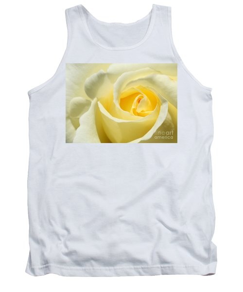 Soft Yellow Rose Tank Top
