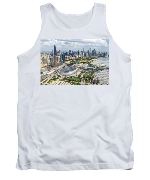 Soldier Field And Chicago Skyline Tank Top