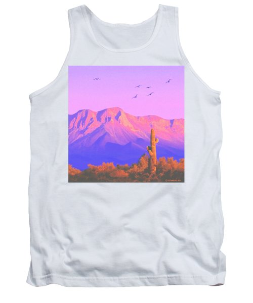 Tank Top featuring the painting Solitary Silent Sentinel by Sophia Schmierer