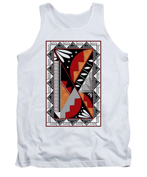 Southwest Collection - Design Seven In Red Tank Top