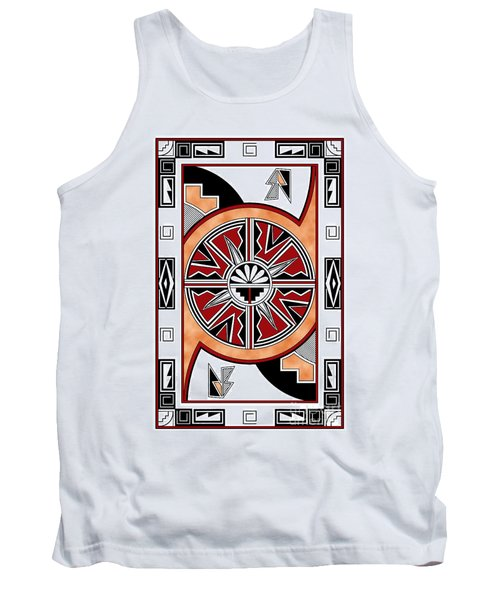 Southwest Collection - Design Six In Red Tank Top