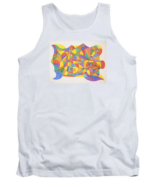 Tank Top featuring the painting Space Craft by Stormm Bradshaw