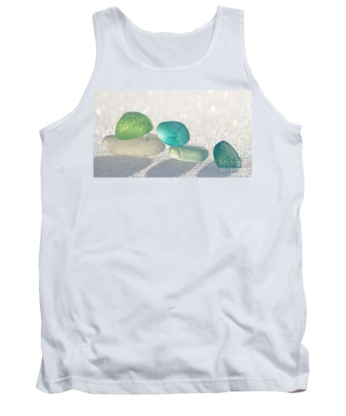 Sparkling Sea Glass Friends Tank Top by Barbara McMahon