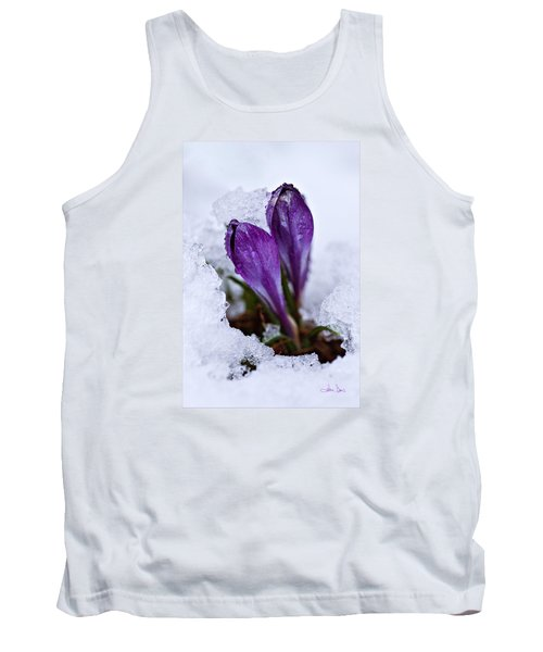 Tank Top featuring the photograph Spring Snow by Joan Davis