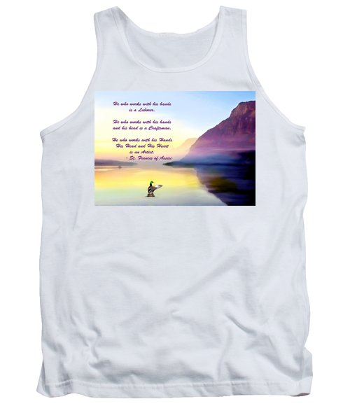 St Francis Of Assisi Quotation Tank Top