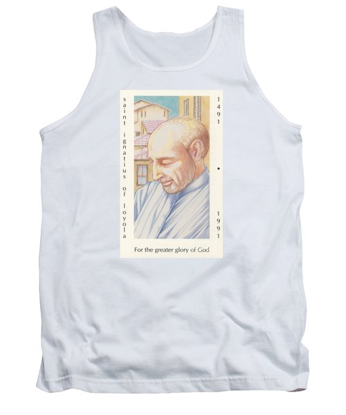Tank Top featuring the painting St. Ignatius At Prayer In Rome by William Hart McNichols