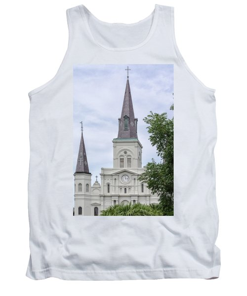 St. Louis Cathedral Through Trees Tank Top