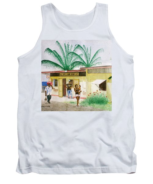 St. Lucia Store Tank Top by Frank Hunter