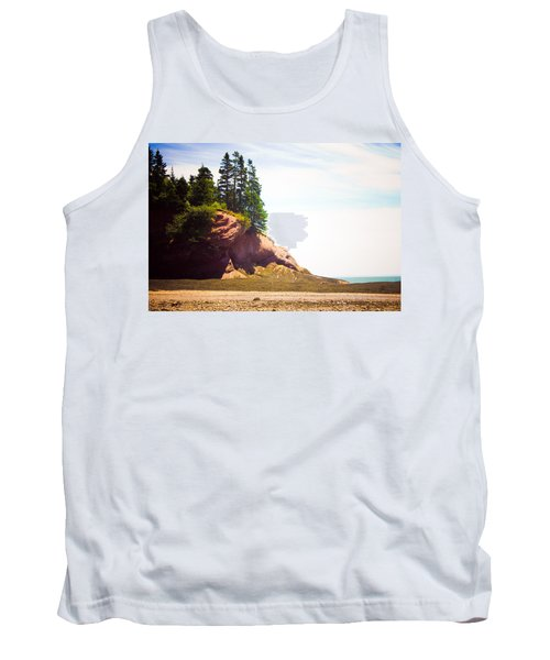 Tank Top featuring the photograph St. Martin's Sea Caves by Sara Frank