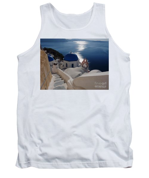 Stairway To The Blue Domed Church Tank Top