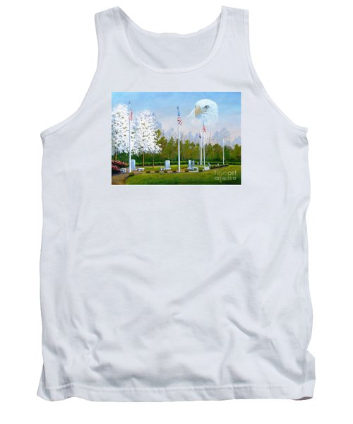 Standing Guard Over Veterans Park Tank Top