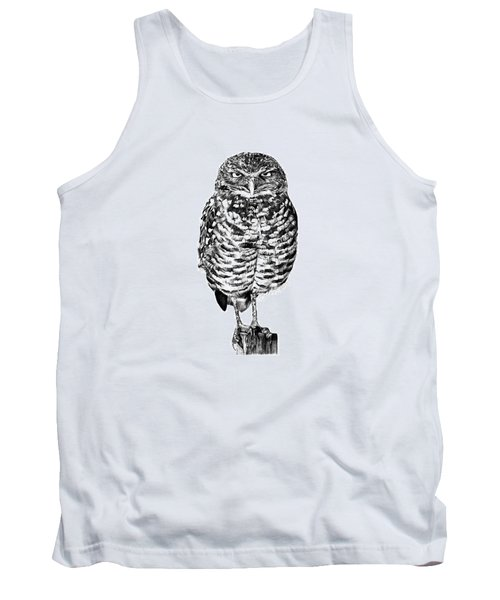041 - Owl With Attitude Tank Top by Abbey Noelle