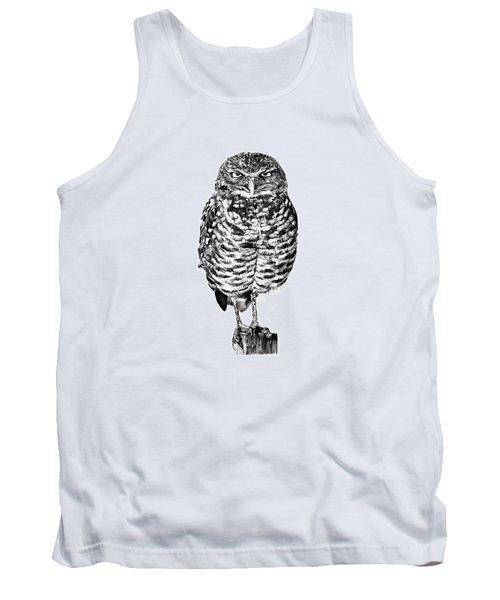 041 - Owl With Attitude Tank Top