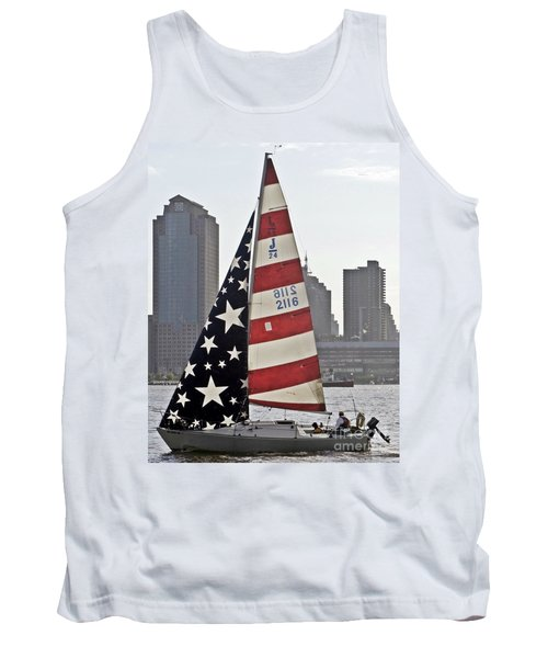 Tank Top featuring the photograph Star Spangled Sail  by Lilliana Mendez