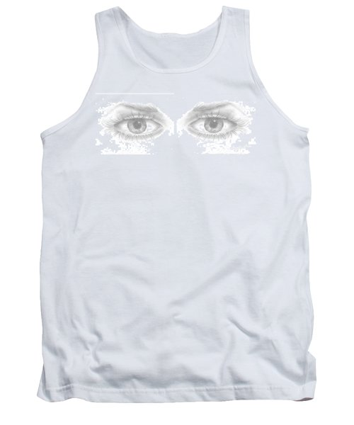 Tank Top featuring the drawing Stare by Terry Frederick