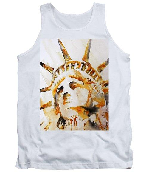 Statue Of Liberty Closeup Tank Top