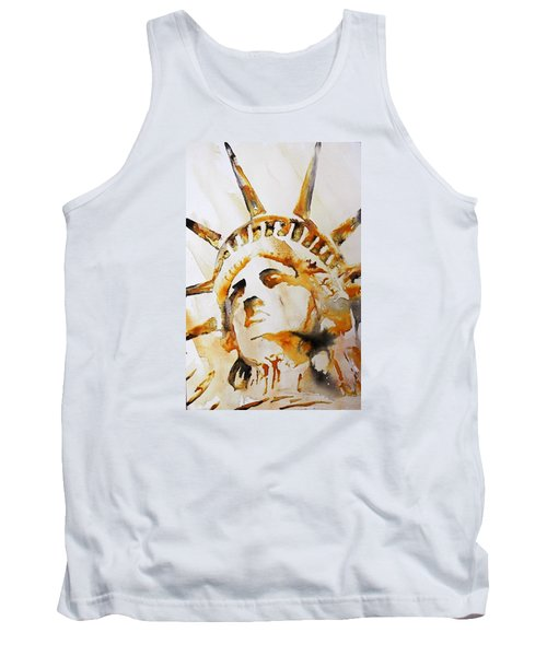 Statue Of Liberty Closeup Tank Top