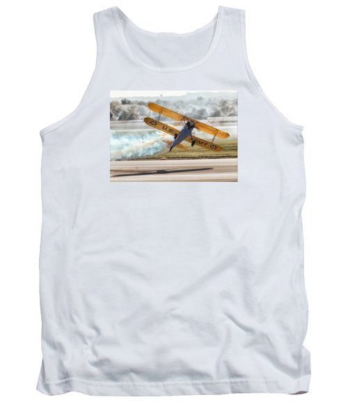 Stearman Model 75 Biplane Tank Top by Alan Toepfer