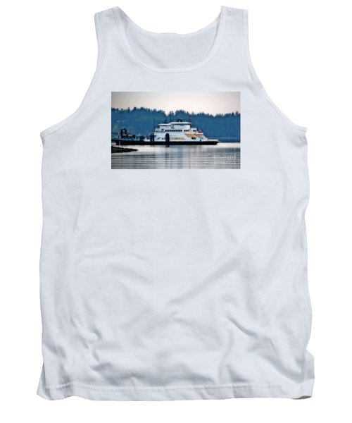 Steilacoom Ferry At Dusk Tank Top by Chris Anderson