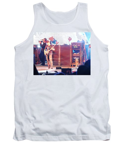 Tank Top featuring the photograph Stephan The Bass Player by Aaron Martens