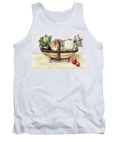 Still Life With A Trug Of Vegetables Tank Top