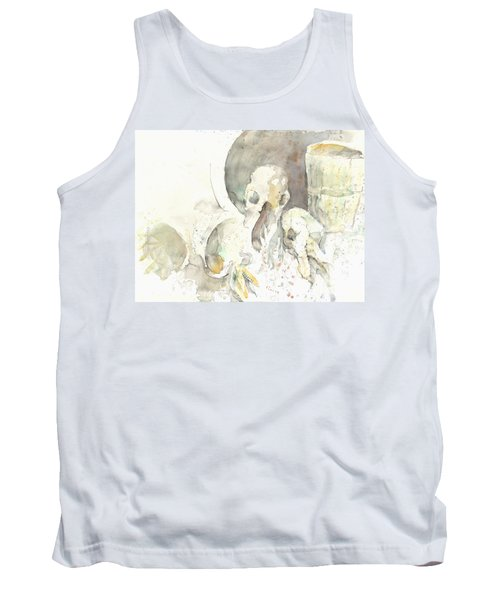 Still Life With Skulls Tank Top by Melinda Dare Benfield
