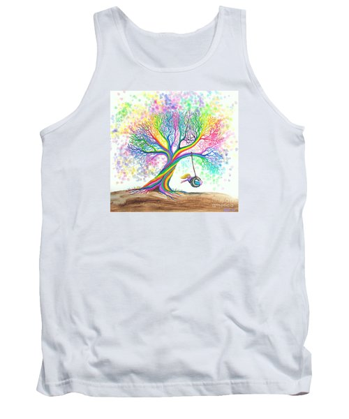 Still More Rainbow Tree Dreams Tank Top by Nick Gustafson