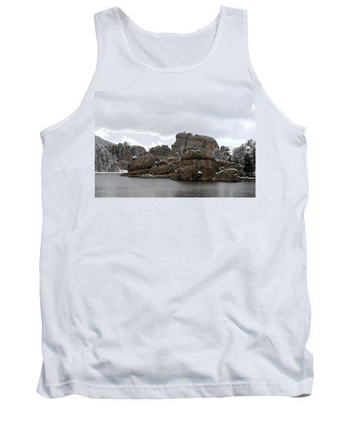 Tank Top featuring the photograph Sylvan Lake In October by Clarice  Lakota