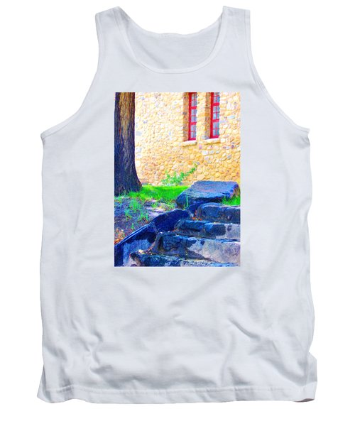 Tank Top featuring the photograph Stone Steps by Marilyn Diaz