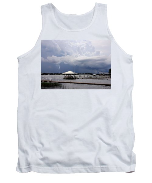 Tank Top featuring the photograph Storm Over Clay Lake by Rosalie Scanlon