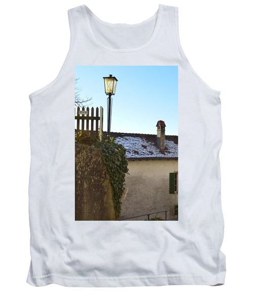 Tank Top featuring the photograph Street Lamp At The Castle  by Felicia Tica