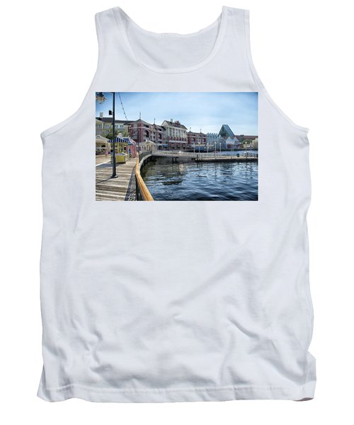 Strolling On The Boardwalk At Disney World Tank Top by Thomas Woolworth
