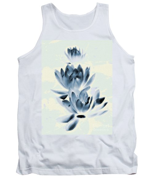 Tank Top featuring the photograph Study In Blue by Andrea Kollo