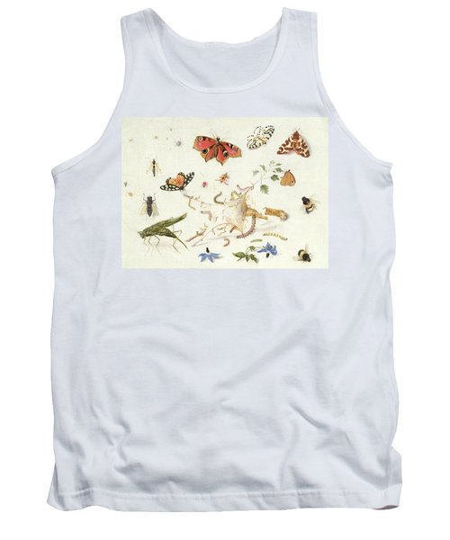 Study Of Insects And Flowers Tank Top by Ferdinand van Kessel
