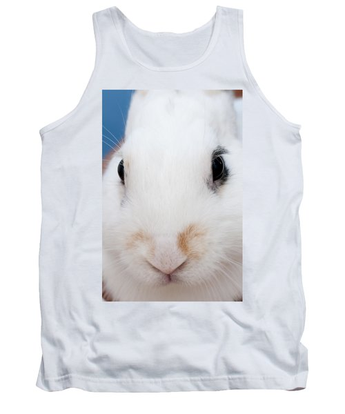 sugar the easter bunny 1 -A curious and cute white rabbit close up Tank Top