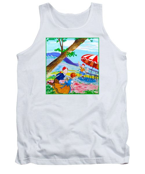 Tank Top featuring the painting Sugarland Vintage by Beth Saffer