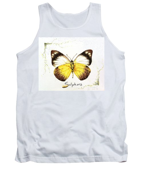 Sulphurs - Butterfly Tank Top by Katharina Filus