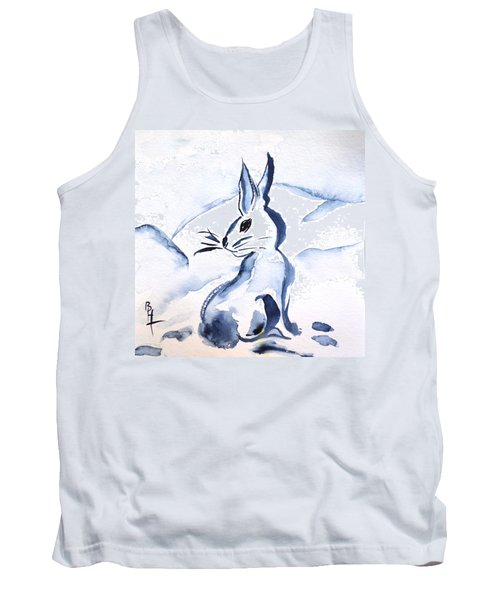 Sumi-e Snow Bunny Tank Top
