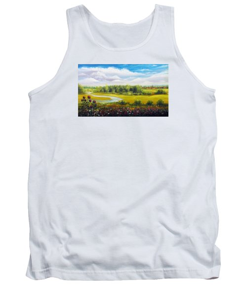 Tank Top featuring the painting Summer Day by Vesna Martinjak