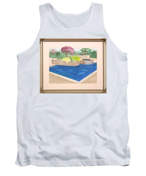 Tank Top featuring the painting Summer Days by Ron Davidson