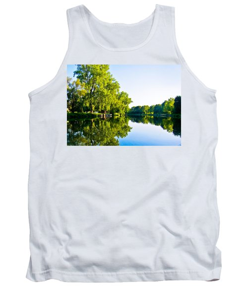 Tank Top featuring the photograph Summer Reflections by Sara Frank
