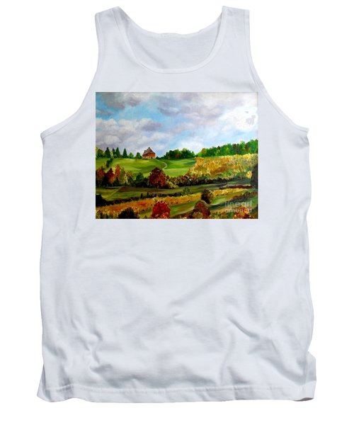 Tank Top featuring the painting Summer's End by Julie Brugh Riffey
