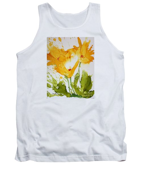 Sun Splashed Poppies Tank Top