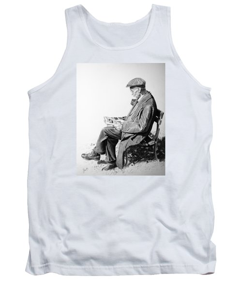 Tank Top featuring the painting Sunday Edition by Glenn Beasley
