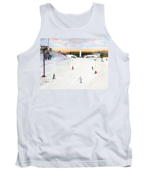 Tank Top featuring the painting Sundial Lodge At Nemacolin Woodlands Resort by Albert Puskaric
