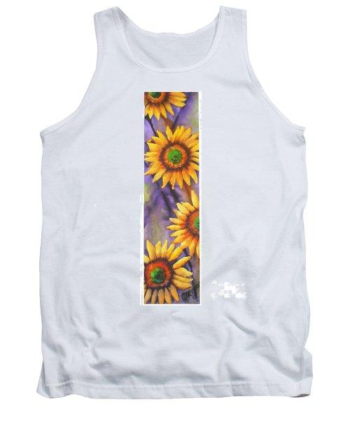 Sunflower Abstract  Tank Top by Chrisann Ellis