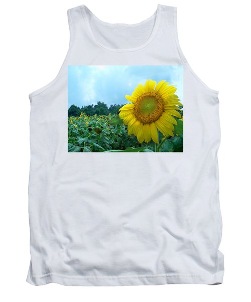 Sunflower Field Of Yellow Sunflowers By Jan Marvin Studios  Tank Top