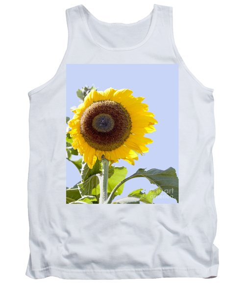 Tank Top featuring the photograph Sunflower In The Blue Sky by David Millenheft