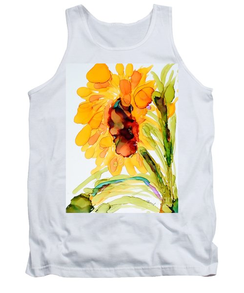Sunflower Left Face Tank Top